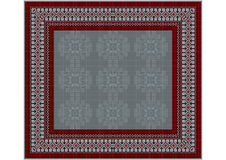 The delicate pattern of the carpet in gray  and vinous shades. Luxurious vintage oriental rug with original pattern with  in gray  and vinous shades Royalty Free Stock Images