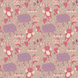 Delicate pattern with love Royalty Free Stock Photo