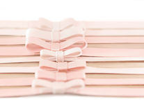 Delicate pink bows Stock Image
