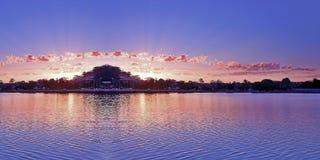 Panoramic Sunrise Seascape Australia royalty free stock image