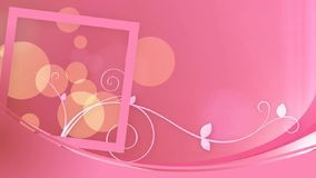 Delicate pink decor background stock footage