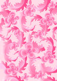 Delicate pink flowers on light pink background Stock Photo