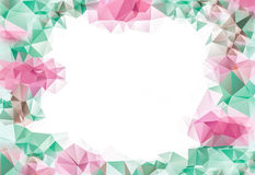 Delicate pink and green abstract background, geometric composition for your design. With space for your text Stock Photos