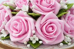 Soap Roses. Delicate pink roses, made out of soap Stock Image