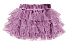 Delicate purple skirt Stock Images