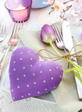 Delicate Romantic Table Setting Stock Image