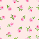 Delicate  roses watercolor seamless vector print Stock Photo