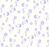 Delicate seamless pattern flora naturall blue pattern. Delicate seamless pattern floral blue pattern Royalty Free Stock Photo