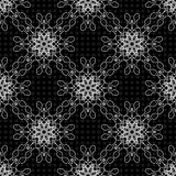 Delicate seamless pattern vintage ethnic ornament on a black background vector illustration Royalty Free Stock Image