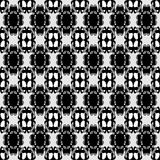 Delicate seamless pattern vintage ethnic ornament on a black background vector illustration Royalty Free Stock Photo