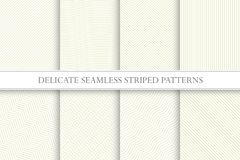 Delicate seamless striped patterns. Fabric textures. Tileable swatches. Delicate seamless striped patterns. Fabric textures - Tileable swatches Stock Images