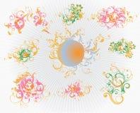 Delicate swirls Stock Image