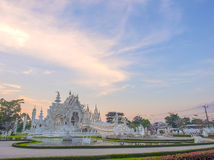 Delicate Thai art in White temple Stock Image
