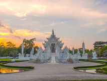 Delicate Thai art in White temple Royalty Free Stock Image