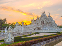Delicate Thai art in White temple Stock Photos