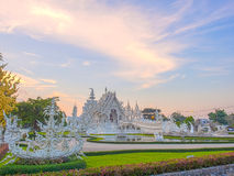 Delicate Thai art in White temple Royalty Free Stock Photos