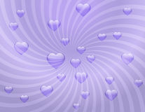 Delicate transparent background with hearts Stock Image