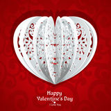Delicate Valentine card Stock Photography