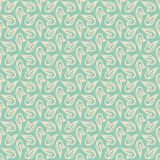 Delicate vector flourish seamless pattern. Delicate vector background in soft colors with little shears and loops flourish seamless pattern Stock Photos
