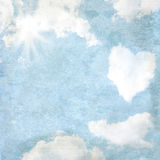Delicate vintage background - heart-shaped Stock Photography
