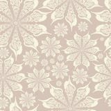 Delicate vintage lace pattern from seashells. Ornament made of shells. Seamless texture. Stock Image