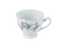 Delicate vintage porcelain tea cup Royalty Free Stock Images