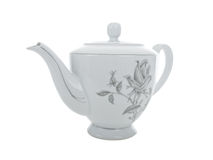 Delicate vintage porcelain tea pot Stock Photos