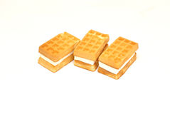 Delicate wafers with filling Royalty Free Stock Image