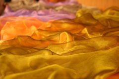 Delicate wavy beautiful fabric. Royalty Free Stock Images