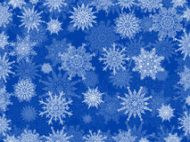 Delicate white Christmas snowflake background blue Royalty Free Stock Images