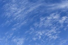 delicate white clouds Royalty Free Stock Image
