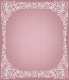 Delicate white frame. Beautiful delicate white frame on pink background Stock Images