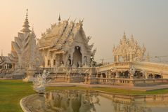 Delicate white temple Stock Photography