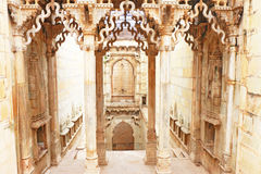 Delicately carved Queen's Step well. Rani Nathawat bundi india Stock Photo