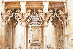 Delicately carved Queen's Step well. Rani Nathawat bundi india Stock Photos