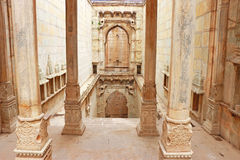 Delicately carved Queen's Step well. Rani Nathawat bundi india Stock Photography