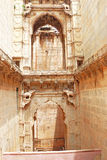 Delicately carved Queen's Step well. Rani Nathawat bundi india Royalty Free Stock Image