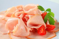 Delicately sliced chicken breast Royalty Free Stock Photography