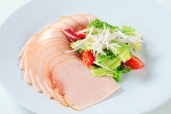 Delicately sliced chicken ham Royalty Free Stock Images