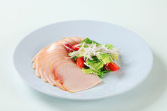 Delicately sliced chicken ham Stock Images