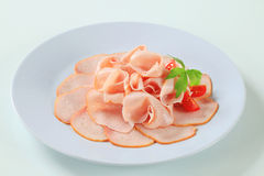 Delicately sliced ham Stock Image