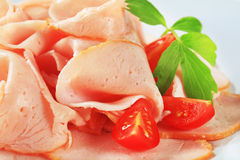 Delicately sliced ham Royalty Free Stock Photos