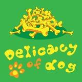 Delicatesse voor hond van beenderen Royalty-vrije Stock Foto's