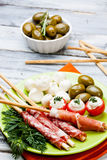 Delicatessen appetizers Royalty Free Stock Photo