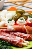 Delicatessen appetizers Royalty Free Stock Image