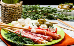 Delicatessen appetizers Stock Image