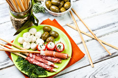 Delicatessen appetizers Royalty Free Stock Images