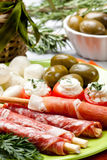Delicatessen appetizers Stock Photography