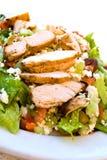 Delicatessen caesar salad with smoked turkey Royalty Free Stock Image