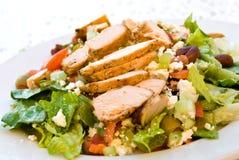 Delicatessen Caesar Salad With Smoked Turkey Stock Photo